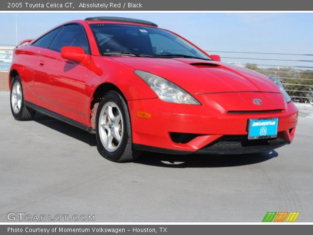absolutely red 2005 toyota celica gt black interior vehicle archive 77924674. Black Bedroom Furniture Sets. Home Design Ideas