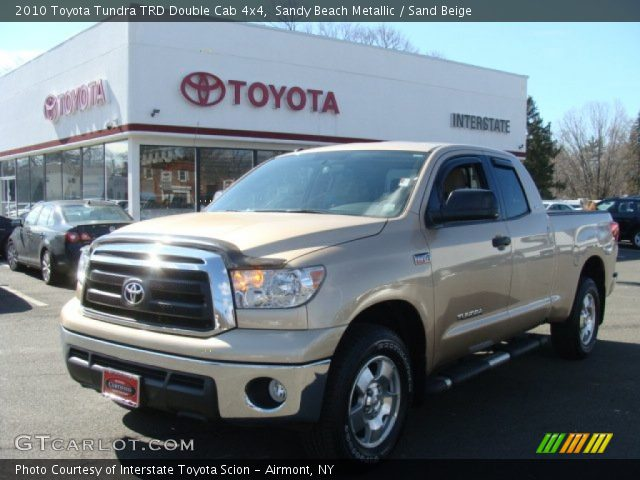sandy beach metallic 2010 toyota tundra trd double cab. Black Bedroom Furniture Sets. Home Design Ideas