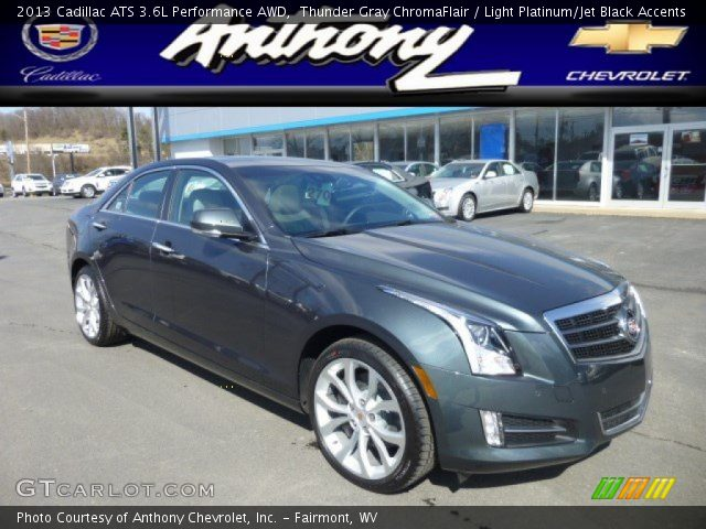 2013 Cadillac ATS 3.6L Performance AWD in Thunder Gray ChromaFlair
