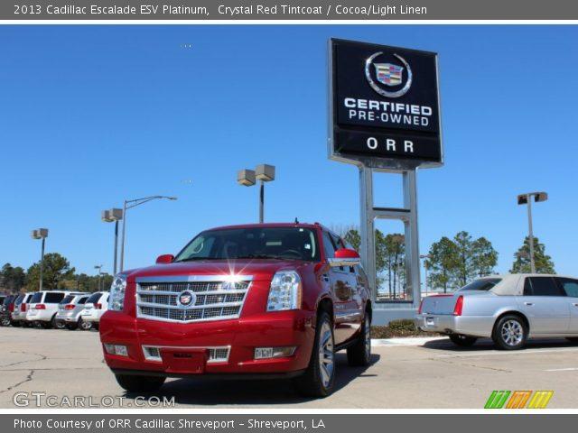 2013 Cadillac Escalade ESV Platinum in Crystal Red Tintcoat