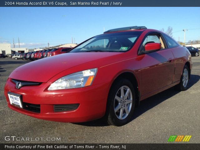 san marino red pearl 2004 honda accord ex v6 coupe ivory interior vehicle. Black Bedroom Furniture Sets. Home Design Ideas