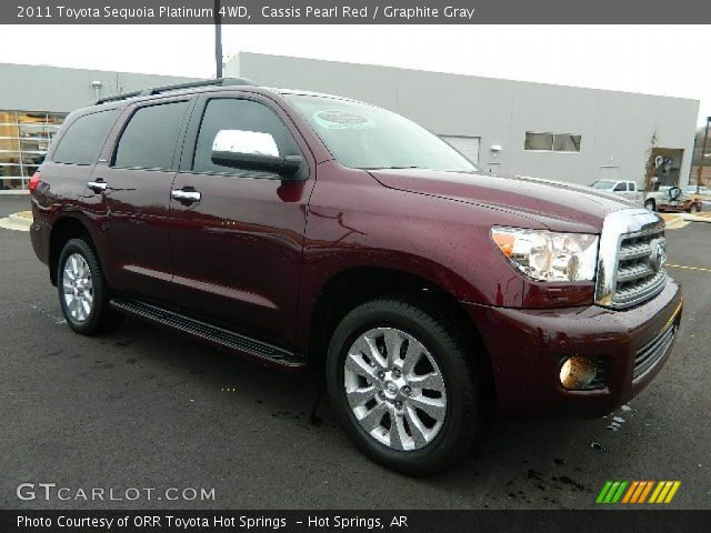 cassis pearl red 2011 toyota sequoia platinum 4wd. Black Bedroom Furniture Sets. Home Design Ideas