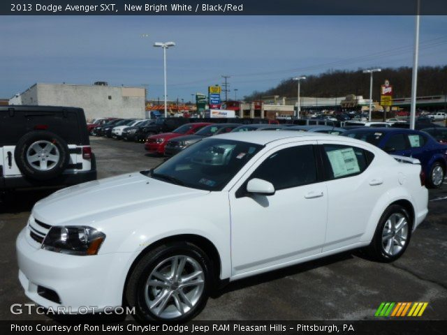 new bright white 2013 dodge avenger sxt black red. Black Bedroom Furniture Sets. Home Design Ideas