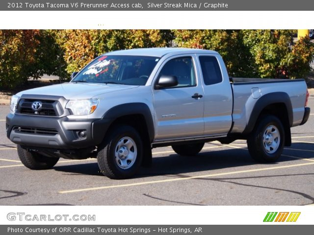 silver streak mica 2012 toyota tacoma v6 prerunner access cab graphite interior gtcarlot. Black Bedroom Furniture Sets. Home Design Ideas