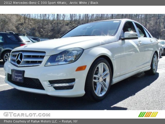 arctic white 2012 mercedes benz c 300 sport 4matic black interior vehicle. Black Bedroom Furniture Sets. Home Design Ideas