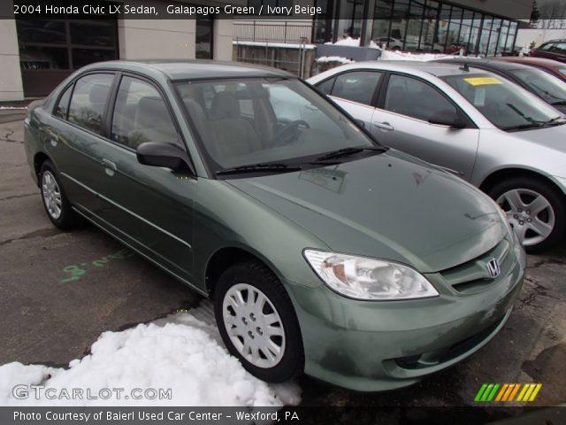galapagos green 2004 honda civic lx sedan ivory beige interior vehicle. Black Bedroom Furniture Sets. Home Design Ideas