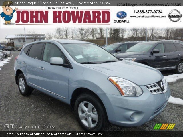 frosted steel 2013 nissan rogue s special edition awd gray interior vehicle. Black Bedroom Furniture Sets. Home Design Ideas