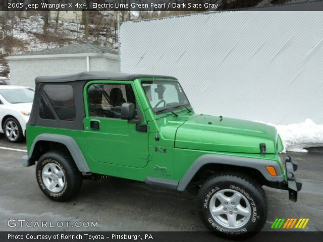 electric lime green pearl 2005 jeep wrangler x 4x4. Black Bedroom Furniture Sets. Home Design Ideas