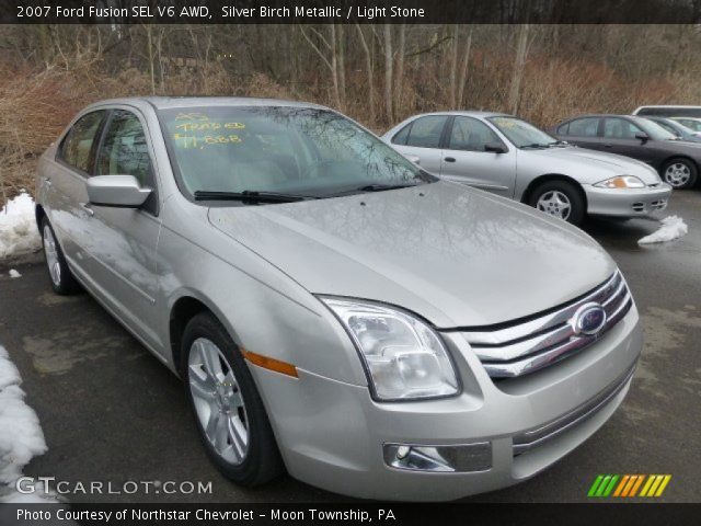 silver birch metallic 2007 ford fusion sel v6 awd light stone interior. Black Bedroom Furniture Sets. Home Design Ideas