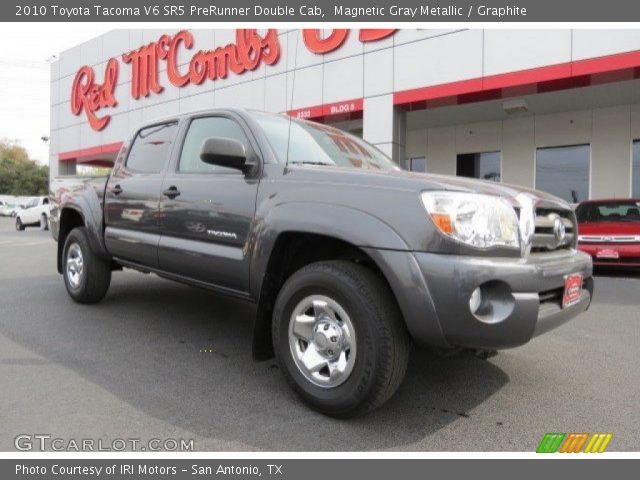 magnetic gray metallic 2010 toyota tacoma v6 sr5 prerunner double cab graphite interior. Black Bedroom Furniture Sets. Home Design Ideas