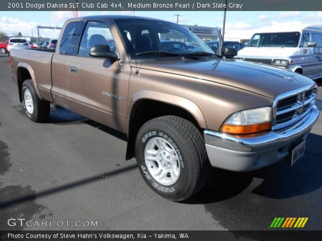 medium bronze pearl 2001 dodge dakota slt club cab 4x4. Black Bedroom Furniture Sets. Home Design Ideas