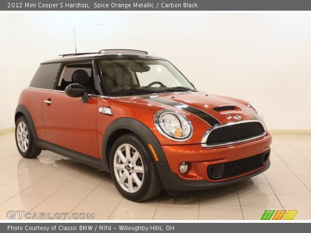 spice orange metallic 2012 mini cooper s hardtop carbon black interior. Black Bedroom Furniture Sets. Home Design Ideas