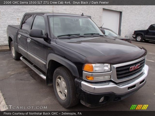 onyx black 2006 gmc sierra 1500 slt z71 crew cab 4x4 dark pewter interior. Black Bedroom Furniture Sets. Home Design Ideas