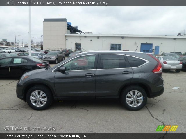Polished metal metallic 2013 honda cr v ex l awd gray for Gray honda crv