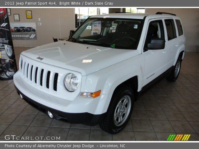 bright white 2013 jeep patriot sport 4x4 dark slate gray interior vehicle. Black Bedroom Furniture Sets. Home Design Ideas