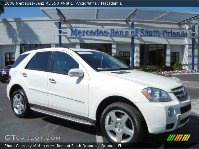 Arctic white 2008 mercedes benz ml 550 4matic for 2008 mercedes benz ml550 4matic