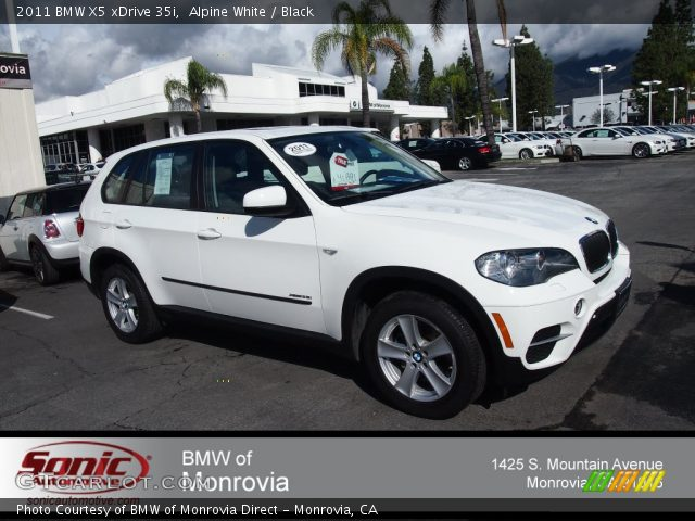 alpine white 2011 bmw x5 xdrive 35i black interior vehicle archive 78181231. Black Bedroom Furniture Sets. Home Design Ideas