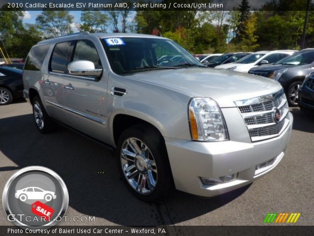 silver lining 2010 cadillac escalade esv platinum awd. Black Bedroom Furniture Sets. Home Design Ideas