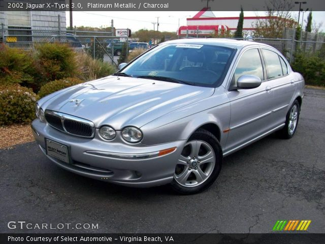 platinum metallic 2002 jaguar x type 3 0 charcoal interior vehicle archive. Black Bedroom Furniture Sets. Home Design Ideas