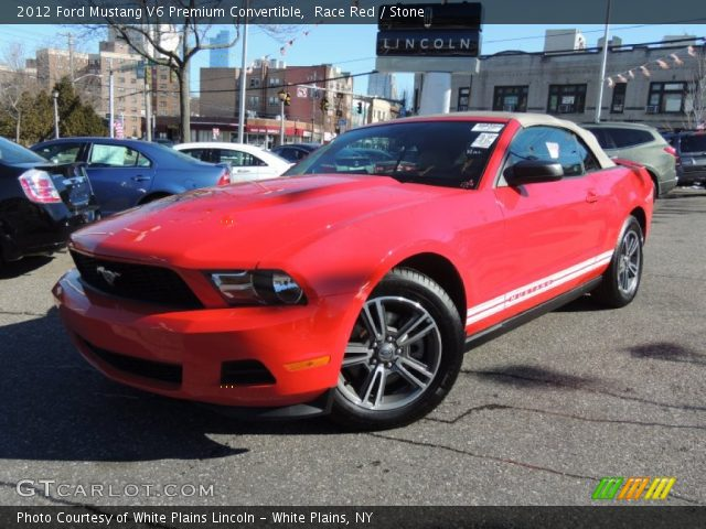 race red 2012 ford mustang v6 premium convertible stone interior vehicle. Black Bedroom Furniture Sets. Home Design Ideas