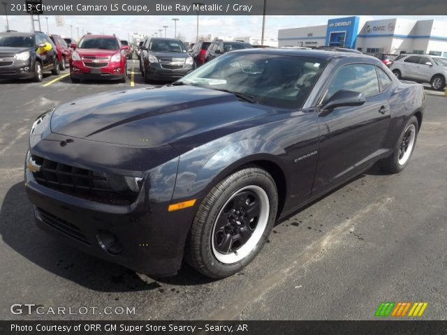 blue ray metallic 2013 chevrolet camaro ls coupe gray. Black Bedroom Furniture Sets. Home Design Ideas