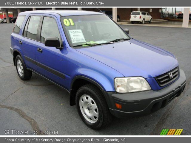 electron blue metallic 2001 honda cr v lx dark gray interior vehicle. Black Bedroom Furniture Sets. Home Design Ideas