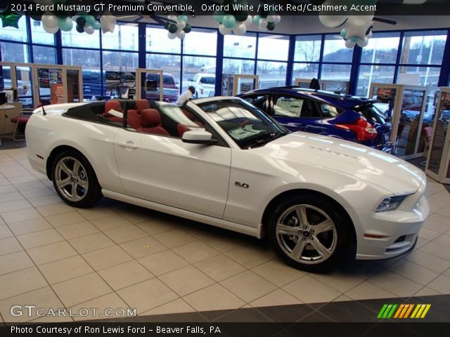 2014 ford mustang gt premium convertible in oxford white - 2014 Ford Mustang Convertible Interior