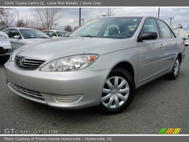 lunar mist metallic 2006 toyota camry le stone gray interior vehicle. Black Bedroom Furniture Sets. Home Design Ideas