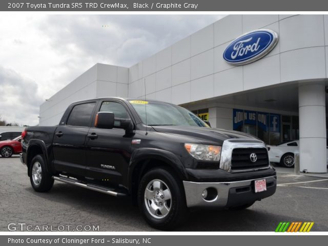 black 2007 toyota tundra sr5 trd crewmax graphite gray interior vehicle. Black Bedroom Furniture Sets. Home Design Ideas