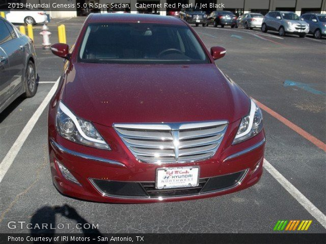 cabernet red pearl 2013 hyundai genesis 5 0 r spec sedan jet black interior. Black Bedroom Furniture Sets. Home Design Ideas