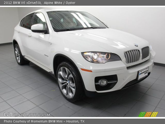 alpine white 2012 bmw x6 xdrive50i oyster interior. Black Bedroom Furniture Sets. Home Design Ideas