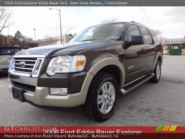 Dark Stone Metallic 2006 Ford Explorer Eddie Bauer 4x4 Camel Stone Interior