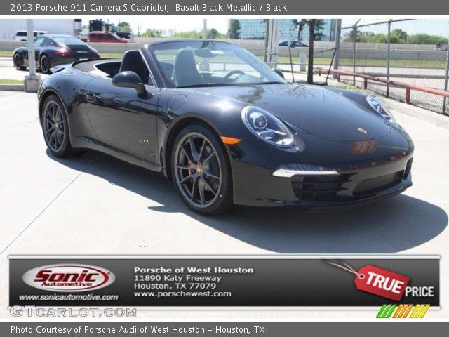 Basalt Black Metallic 2013 Porsche 911 Carrera S Cabriolet Black