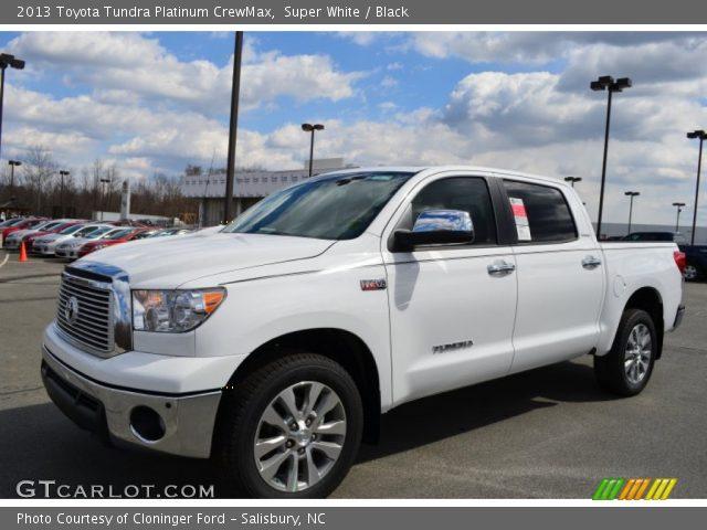 super white 2013 toyota tundra platinum crewmax black interior vehicle. Black Bedroom Furniture Sets. Home Design Ideas