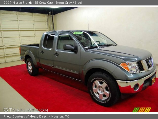 storm gray 2007 nissan frontier se crew cab steel interior vehicle archive. Black Bedroom Furniture Sets. Home Design Ideas