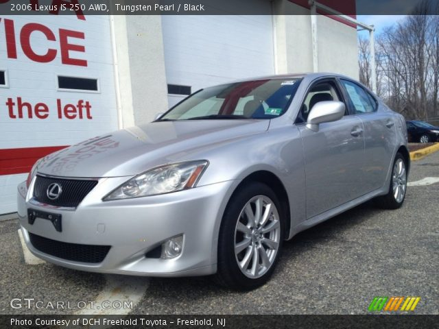 tungsten pearl 2006 lexus is 250 awd black interior vehicle archive 78374987. Black Bedroom Furniture Sets. Home Design Ideas