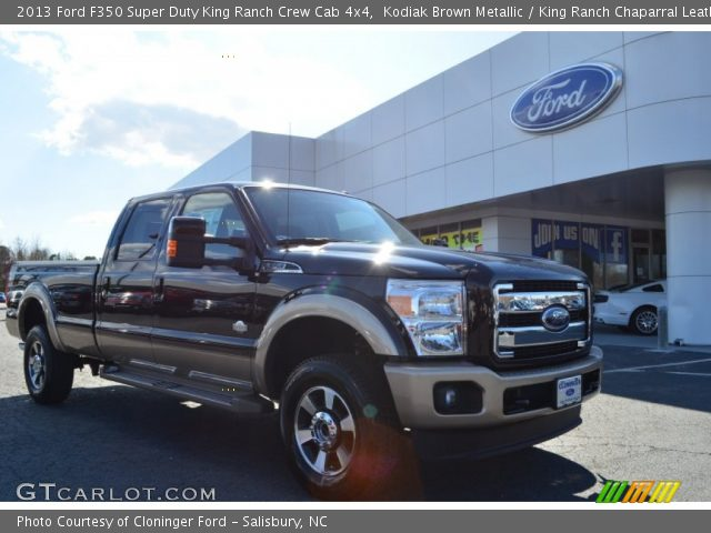 Kodiak Brown Metallic 2013 Ford F350 Super Duty King Ranch Crew Cab 4x4 King Ranch Chaparral