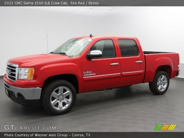 fire red 2013 gmc sierra 1500 sle crew cab ebony interior vehicle archive. Black Bedroom Furniture Sets. Home Design Ideas