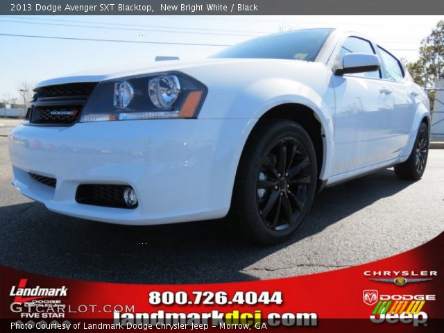 new bright white 2013 dodge avenger sxt blacktop black. Black Bedroom Furniture Sets. Home Design Ideas