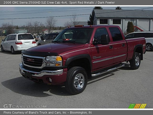 sport red metallic 2006 gmc sierra 2500hd sle crew cab. Black Bedroom Furniture Sets. Home Design Ideas