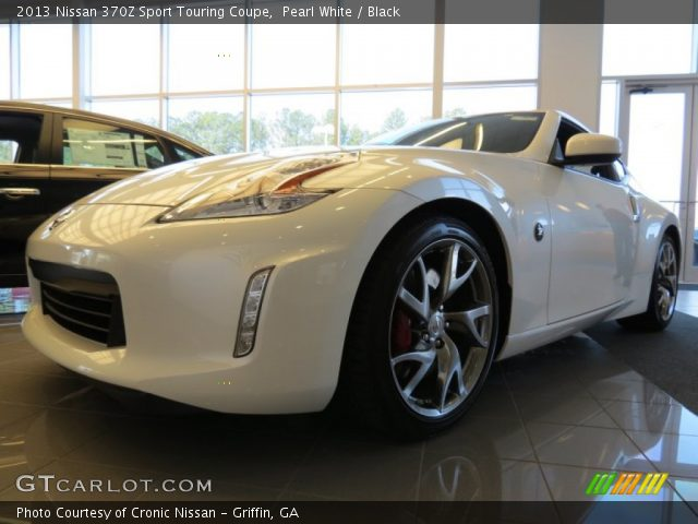 Pearl White 2013 Nissan 370z Sport Touring Coupe Black Interior