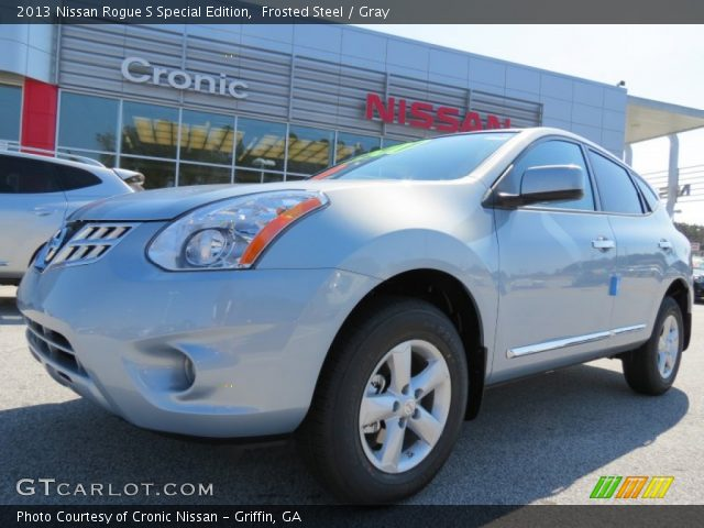 frosted steel 2013 nissan rogue s special edition gray interior vehicle. Black Bedroom Furniture Sets. Home Design Ideas