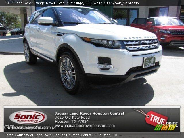 Fuji White 2012 Land Rover Range Rover Evoque Prestige Tan Ivory Espresso Interior