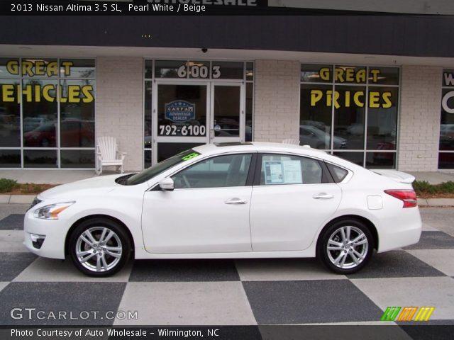 Pearl White 2013 Nissan Altima 3 5 Sl Beige Interior