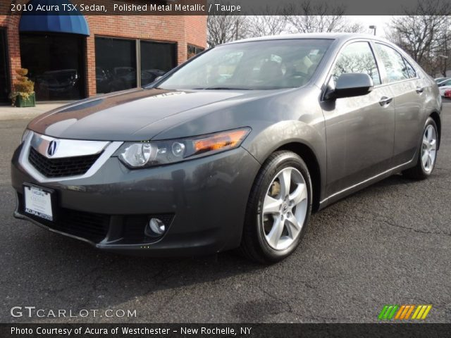 polished metal metallic 2010 acura tsx sedan taupe. Black Bedroom Furniture Sets. Home Design Ideas