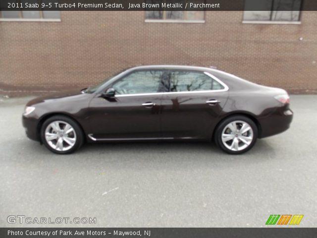 java brown metallic 2011 saab 9 5 turbo4 premium sedan parchment interior. Black Bedroom Furniture Sets. Home Design Ideas