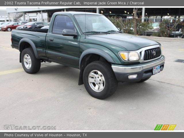 imperial jade green mica 2002 toyota tacoma prerunner regular cab charcoal interior. Black Bedroom Furniture Sets. Home Design Ideas