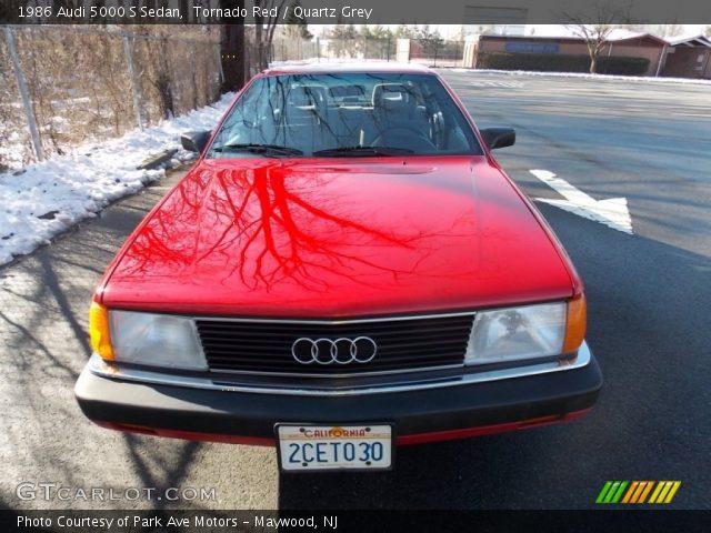 1986 Audi 5000 S Sedan in Tornado Red