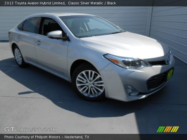 classic silver metallic 2013 toyota avalon hybrid limited black interior. Black Bedroom Furniture Sets. Home Design Ideas