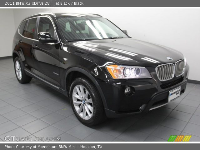 jet black 2011 bmw x3 xdrive 28i black interior vehicle archive 78640482. Black Bedroom Furniture Sets. Home Design Ideas